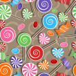 Candy party celebration, seamless pattern background — Stock Vector