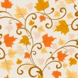 Autumn leaves seamless background. — Stock Vector