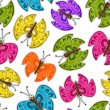 Seamless pattern with colorful butterflies. — Stock Vector #25173741