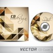 Stock Vector: Abstract CD Cover design for your business.