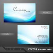 Professional and designer business card template or visiting car — Stock Vector