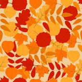 Herfstbladeren naadloze achtergrond. — Stockvector