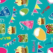 Seamless pattern for Happy Birthday celebration. — Stock Vector