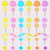 Candy party celebration, seamless pattern background — ストックベクタ