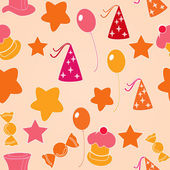 Seamless pattern for Happy Birthday celebration. — Stock Vector