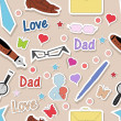 Happy Fathers Day Background. — 图库矢量图片