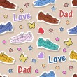 Happy Fathers Day Background. — Imagen vectorial