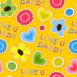 Happy Fathers Day Background. — Imagens vectoriais em stock