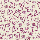 Happy Fathers Day Background. — Stock Vector