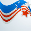 4th of July, American Independence Day background with stars.  — 图库矢量图片