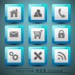 3D web 2.0 mail icons set for websites, web applications. email  — Imagen vectorial