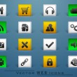 3D web 2.0 mail icons set for websites, web applications. email  — Stock vektor