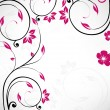 Royalty-Free Stock Vectorielle: Beautiful abstract background with flowers.