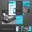 Professional business three fold flyer template, corporate broch — Stock Vector #25978141