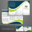 Professional business three fold flyer template, corporate broch - Image vectorielle