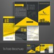 Professional business three fold flyer template, corporate broch - Grafika wektorowa