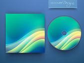 Progetto di copertina del cd per il tuo business. — Vettoriale Stock