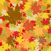 Bezešvé pozadí s podzimní listí. — Stock vektor