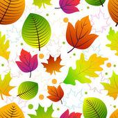 Fondo transparente con hojas de otoño. — Vector de stock