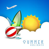 Summer holidays background. — Vector de stock