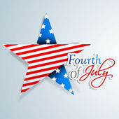 4th of July, American Independence Day background with star in n — Stock Vector