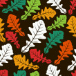 Royalty-Free Stock Vector Image: Seamless background with autumn leaves.