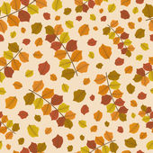 Sfondo senza soluzione di continuità con le foglie d'autunnale. — Vettoriale Stock