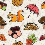 Nahtlose Hintergrund mit Herbstlaub — Stockvektor