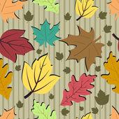 Sonbahar yaprakları ile sorunsuz arka plan. — Stok Vektör