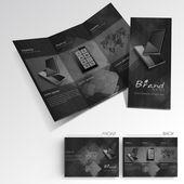 Professional business three fold flyer template, corporate broch — Stockvektor