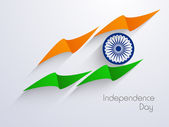 Indian Independence Day background with creative national flag d — Stock Vector