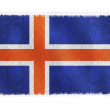 drapeau de l'Islande sur fond — Photo #2619344