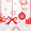 Hanging christmas icons backround — Stock Vector #2671308