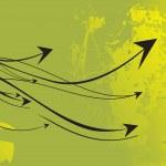 Grungy background with arrowhead — Stock Vector #2736973