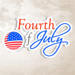 4th of July, American Independence Day background. — Stock Vector #27373563