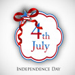 4th of July, American Independence Day background. — 图库矢量图片