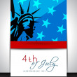 4th of July, American Independence Day background. — Stock Vector #27374159