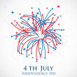 4th of July, American Independence Day background.  — Stok Vektör