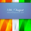 Indian Independence Day background with text 15th of August on n — Stock Vector