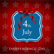 4th of July, American Independence Day background.  — Vektorgrafik