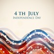 4th of July, American Independence Day background. — Stock Vector #27375171