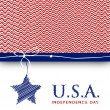 4th of July, American Independence Day background.  — Stock vektor