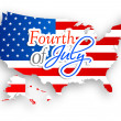 4th of July, American Independence Day background.  — Stock Vector