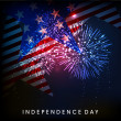 4th of July, American Independence Day background. — Vector de stock  #27376031
