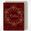 Beautiful floral decorated invitation cards.  — Stock vektor