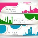 Website header or banner set for Muslim community holy month Ram — Stock Vector #27379019