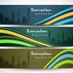 Website header or banner set for Muslim community holy month Ram — Stock Vector #27379635