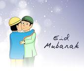 Abstract Muslim community festival Eid Mubarak background. — Stock Vector