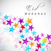 Abstrakt muslim Jamaat Festival Eid Mubarak-Hintergrund. — Stockvektor