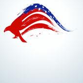 4. juli, amerikanischen unabhängigkeitstag-hintergrund. — Stockvektor